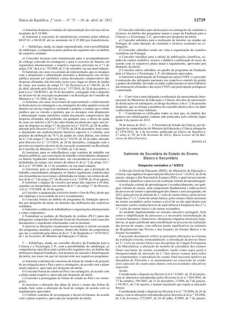 Despacho normativo
