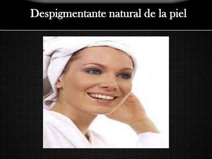 Despigmentante natural de la piel<br />