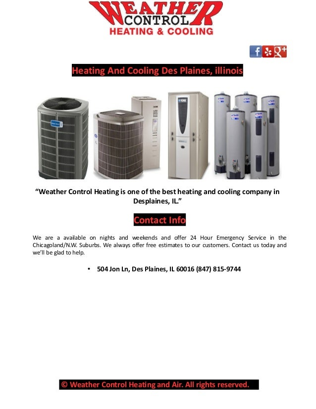 Heating And Cooling Unit Brands : Des plaines suburban company offers best services for all