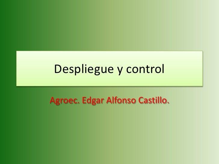 Despliegue y control  Agroec. Edgar Alfonso Castillo.