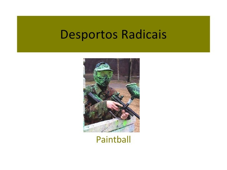 Desportos Radicais Paintball