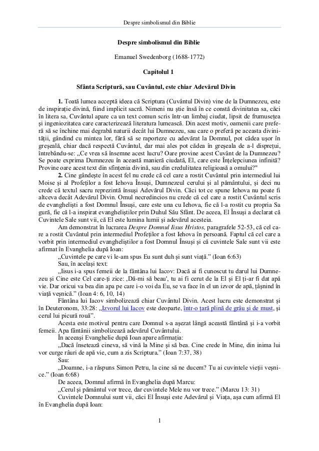 Despre simbolismul din Biblie - Emanuel Swedenborg