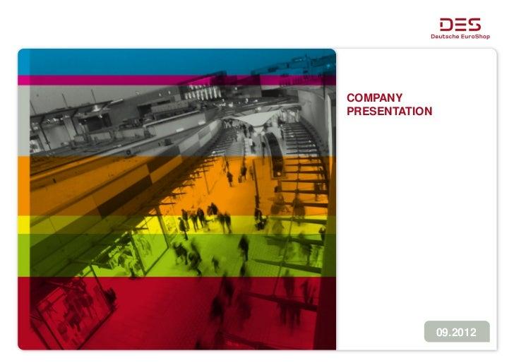 Deutsche EuroShop | Company Presentation | 09/12
