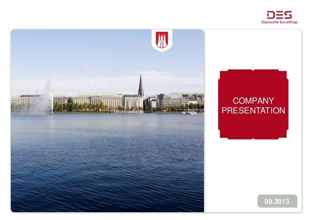 Deutsche EuroShop | Company Presentation | 09/13