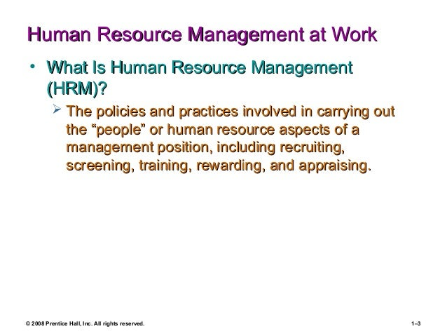 how hr management concepts and techniques can be of use to all managers Answer to give at least one example of how hr management concepts and techniques can be of use to all managers.