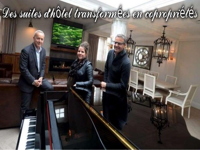 C'est une première à Québec : un hôtelier transforme son établissement en résidence de tourisme dans le Vieux-Port. Les su...