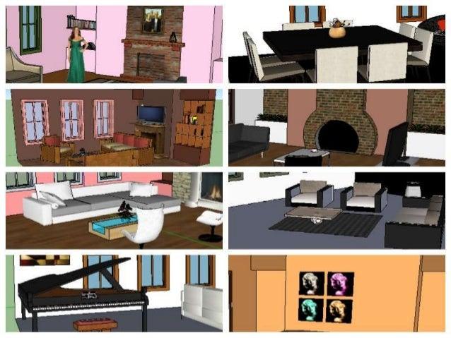 PROYECTOS DESTACADOS MODELACIÓN 3D UNIDAD 2 GRADO 8º 2013 Interior de una vivienda Elementos de ambiente de la galería 3D