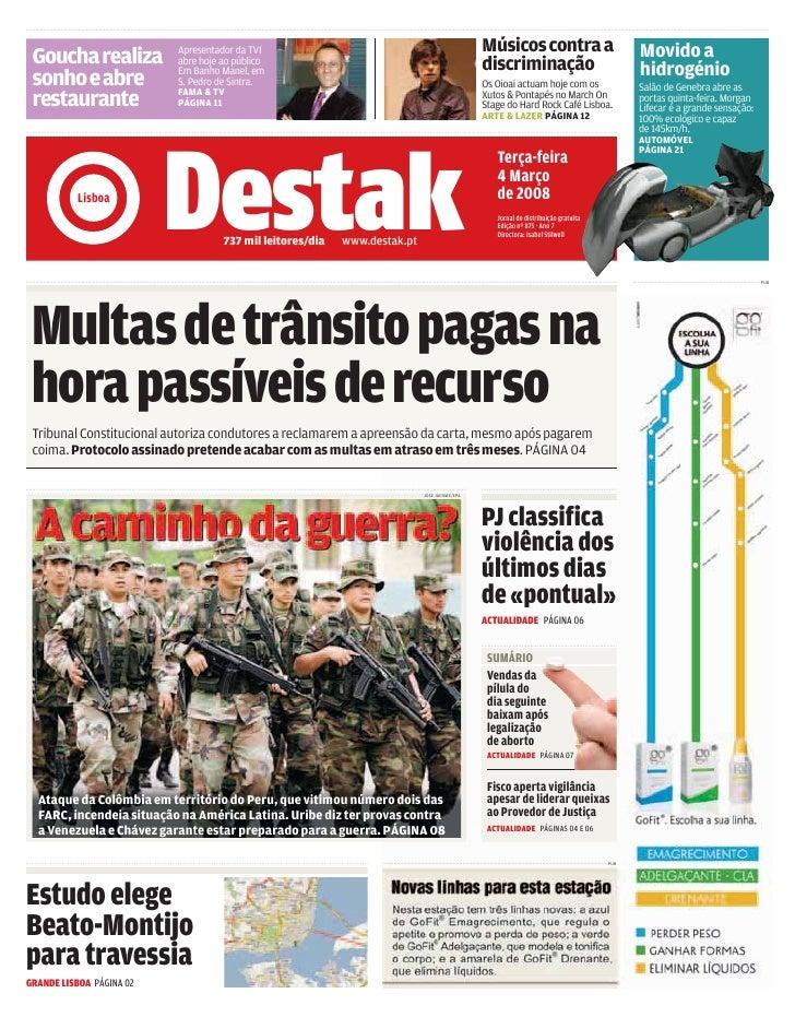 DESTAK – Lisboa – 04.03.2008