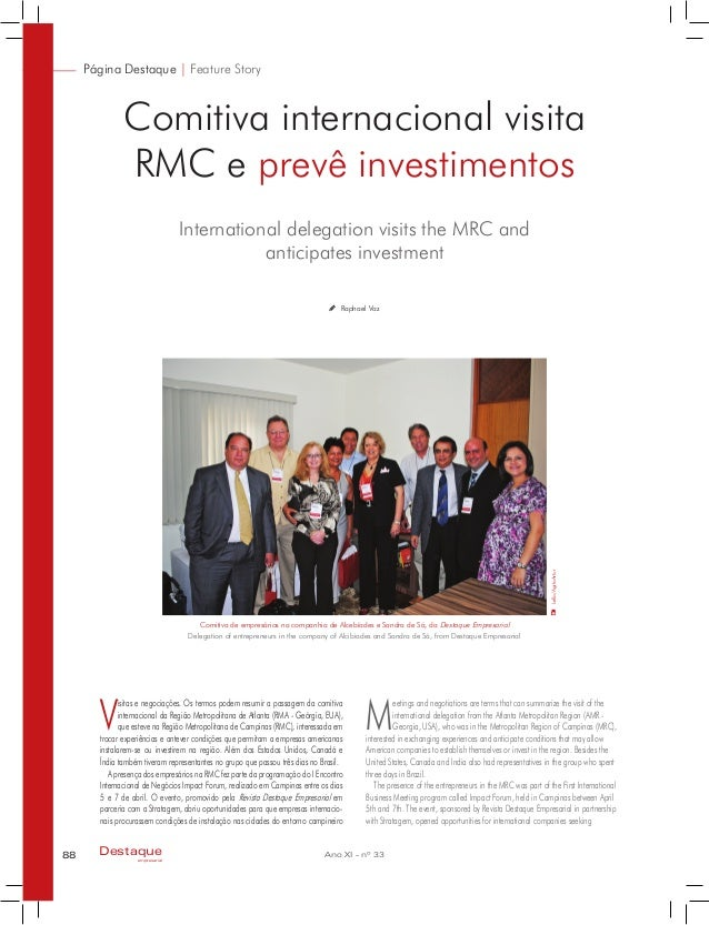 International delegation visits the MRC and anticipates investment Página Destaque | Feature Story Comitiva internacional ...