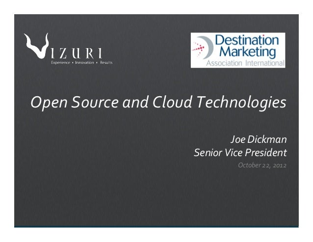 Destination Marketing Open Source and Cloud Presentation