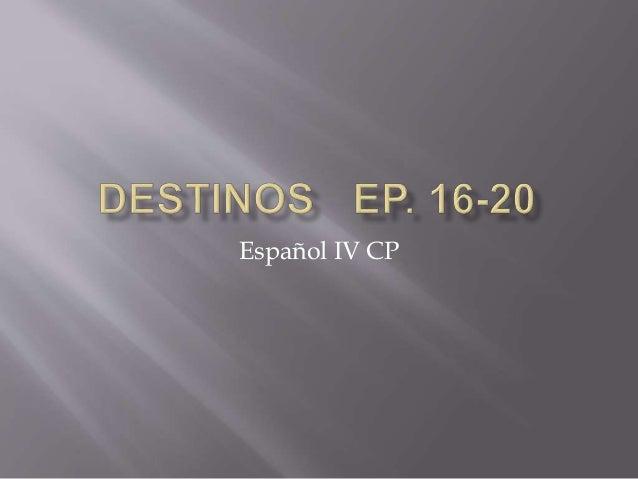 Español IV CP