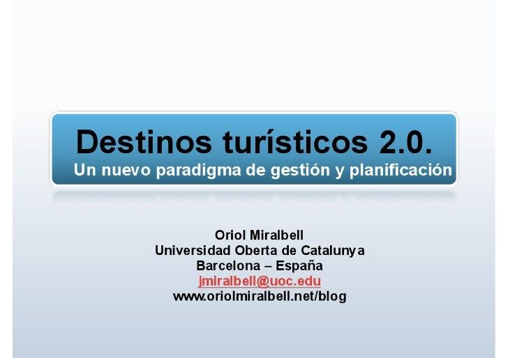 Ponencia Congreso Turismo: Destinos turisticos 2.0