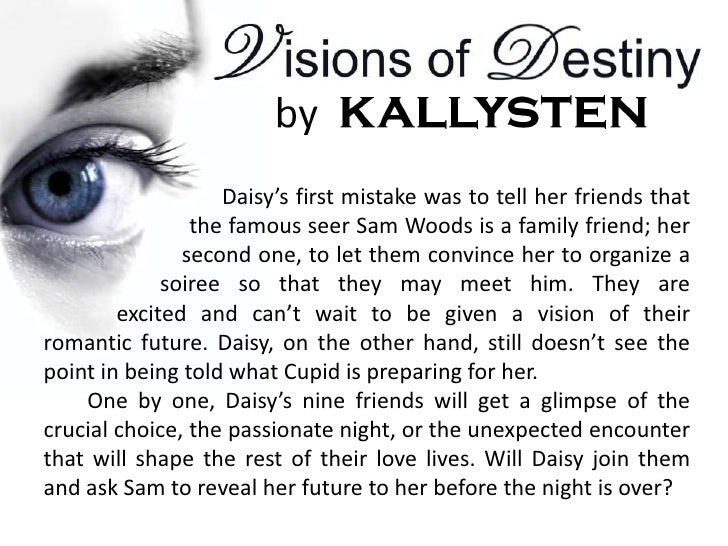 Daisy's first mistake was to tell her friends that                the famous seer Sam Woods is a family friend; her       ...