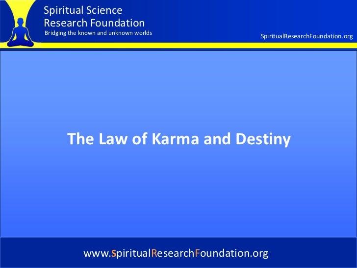Destiny And Karma