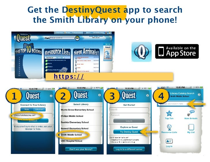 Get the DestinyQuest app to search     the Smith Library on your phone!         ht t ps :/ /1          2            3     ...