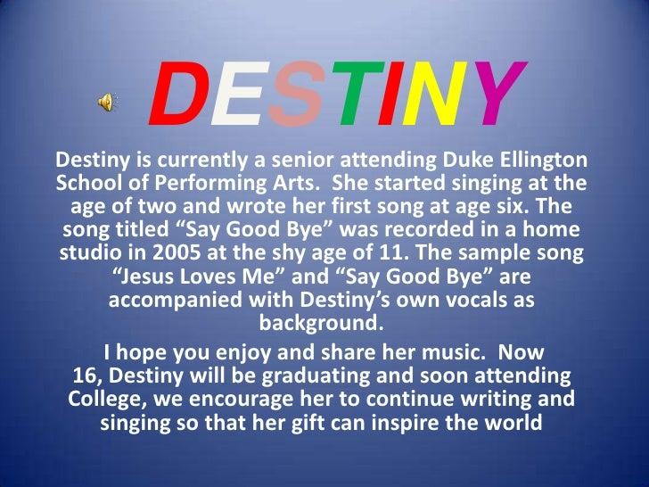 Destiny's   growing up - slide show