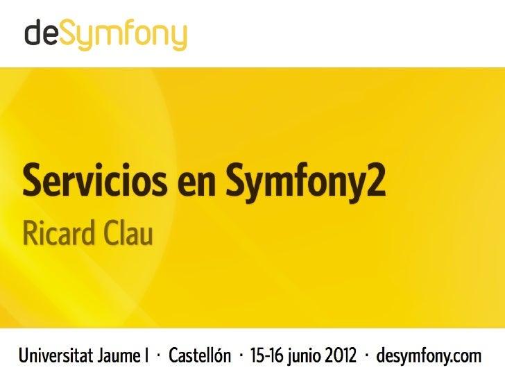 Desymfony  - Servicios