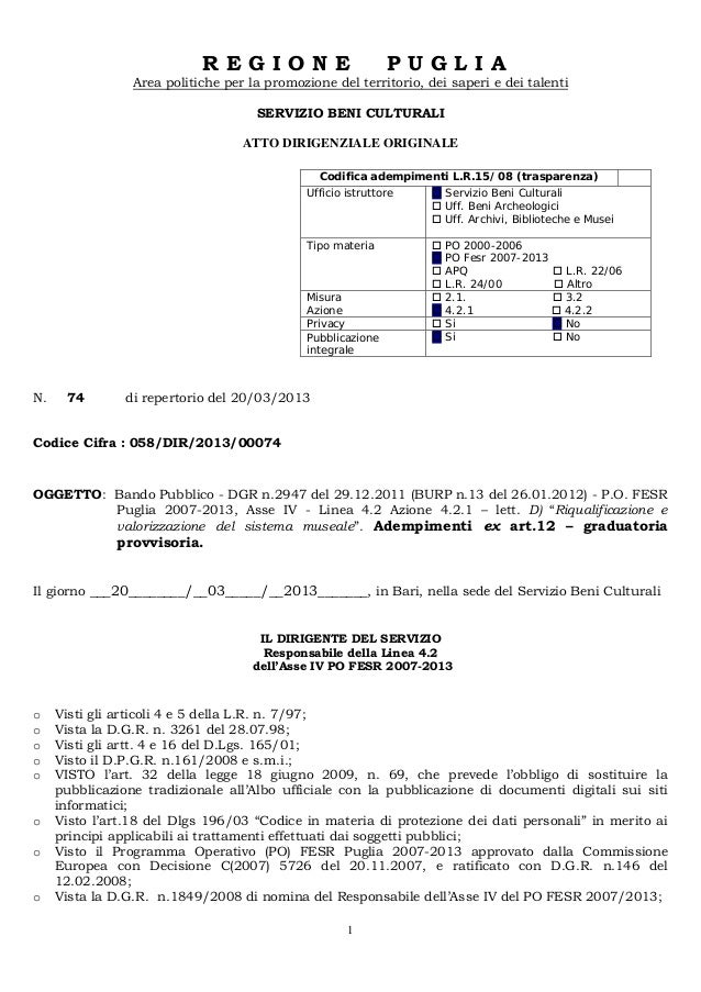 Det 742013 graduatorie_provvisorie_musei
