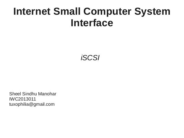 Detailed iSCSI presentation