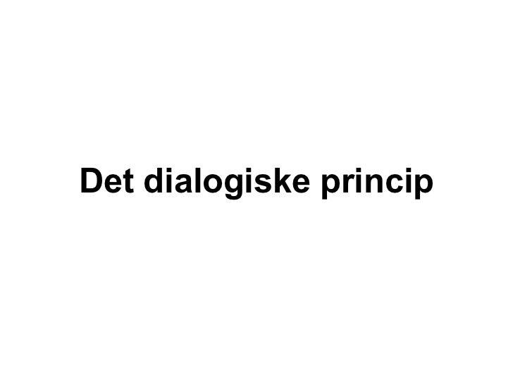 Detdialogiskeprincip