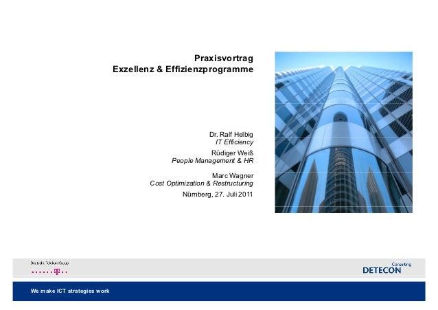 Praxisvortrag                              Exzellenz & Effizienzprogramme                                                 ...