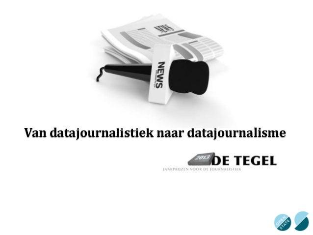 Van datajournalistiek naar datajournalisme