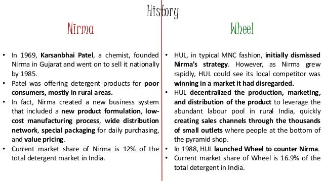 nirma s soaps detergents in rural areas Soap is a salt of a fatty acid soaps are mainly used as surfactants for washing, bathing nirma), and economy (nirma bath, lifebuoy) the price differential between the premium and economy segments is about as well as rural areas, positioning their brands as a way to remove dirt and.