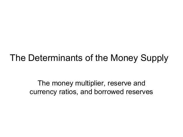 Determinants of money demand