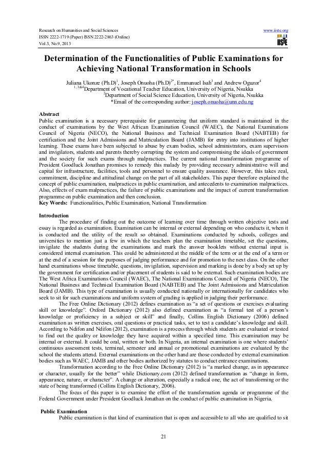 Research on Humanities and Social Sciences www.iiste.org ISSN 2222-1719 (Paper) ISSN 2222-2863 (Online) Vol.3, No.9, 2013 ...