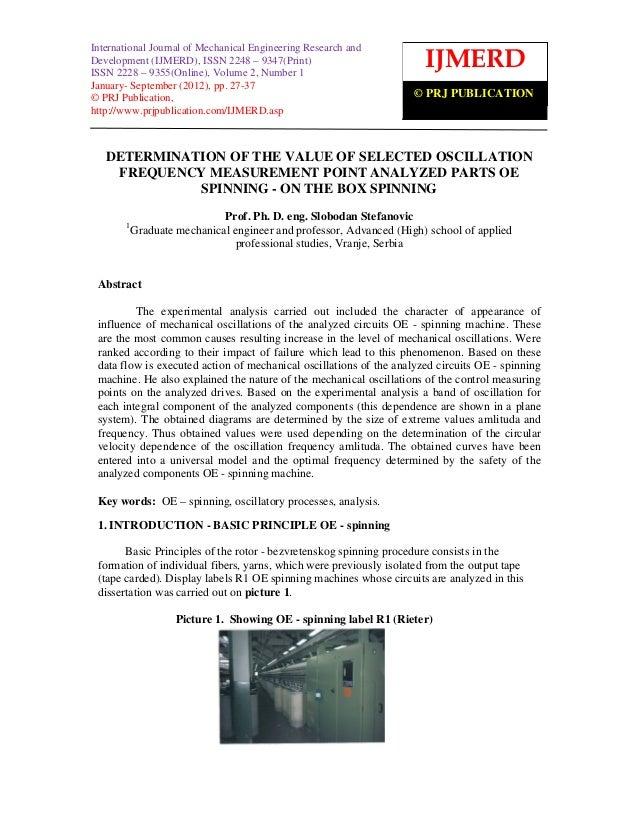International Journal of Mechanical Engineering Research and and  International Journal of Mechanical Engineering Research...