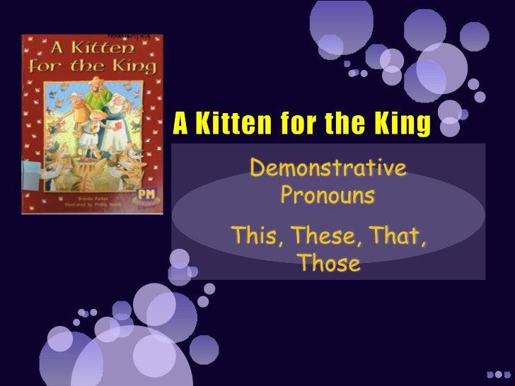 Determiners demonstrative pronouns