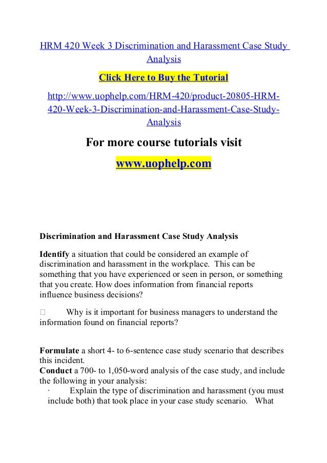 Buy analysis case study