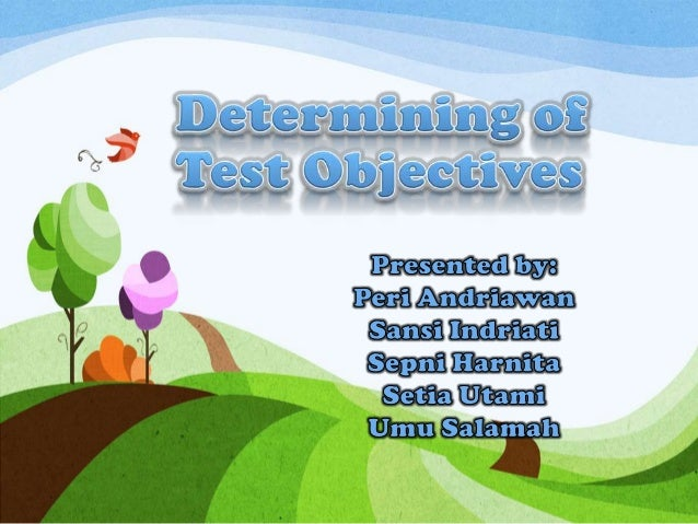 Test Objectives Meaning