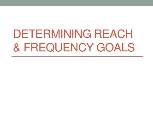 DETERMINING REACH& FREQUENCY GOALS