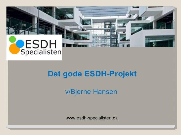 www.esdh-specialisten.dk v/Bjerne Hansen Det gode ESDH-Projekt