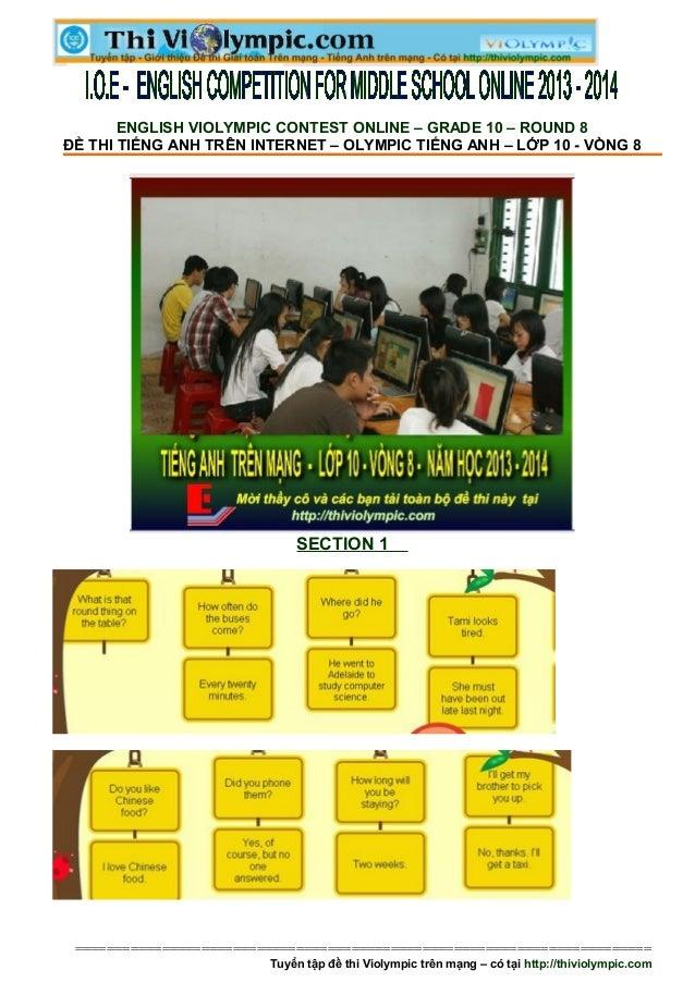 Hướng dẫn làm bài thi IOE Tiếng Anh lớp 10 - vòng 8