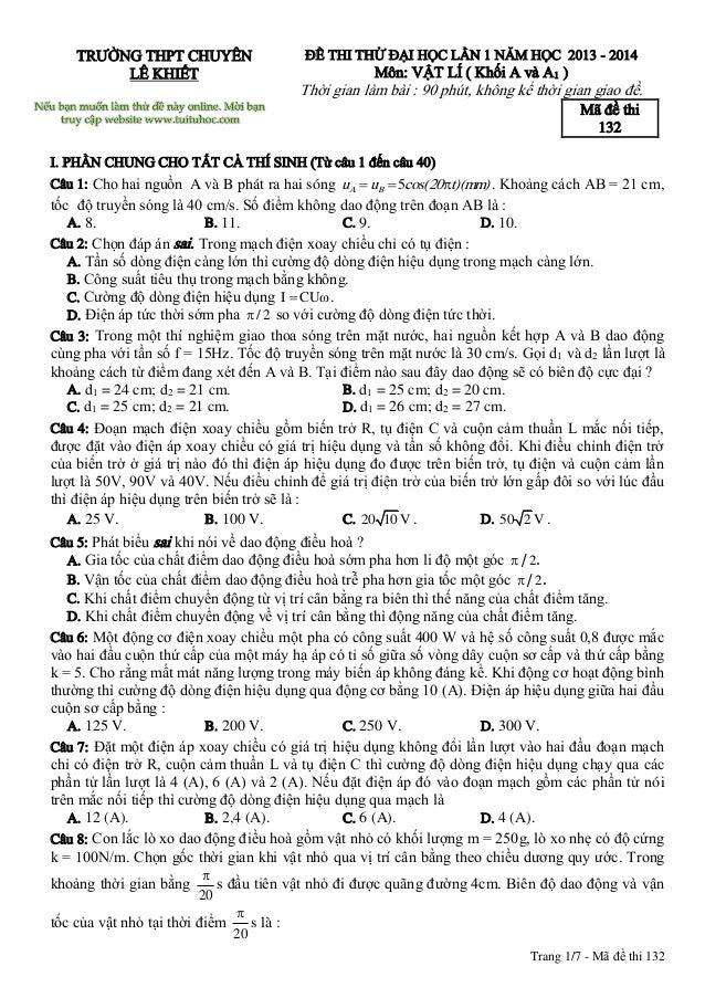 thi thu vat ly online trang 1