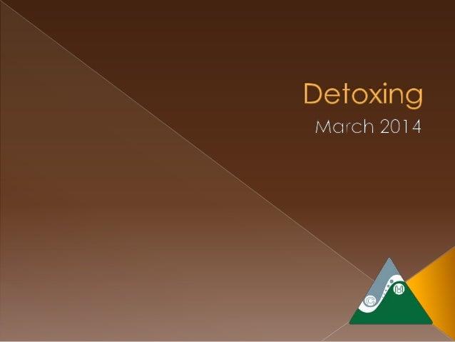 DrRic Detoxing Spring 2014