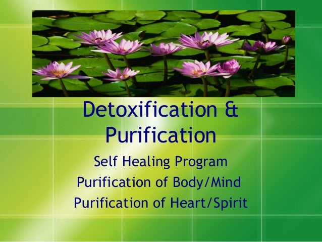 Detoxification &PurificationSelf Healing ProgramPurification of Body/MindPurification of Heart/Spirit