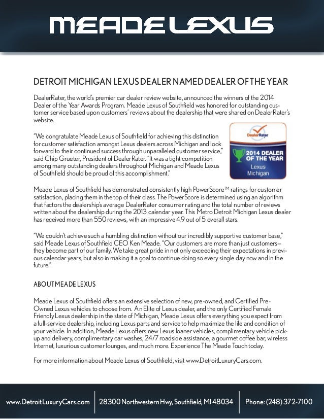 DealerRater, the world's premier car dealer review website, announced the winners of the 2014 Dealer of the Year Awards Pr...