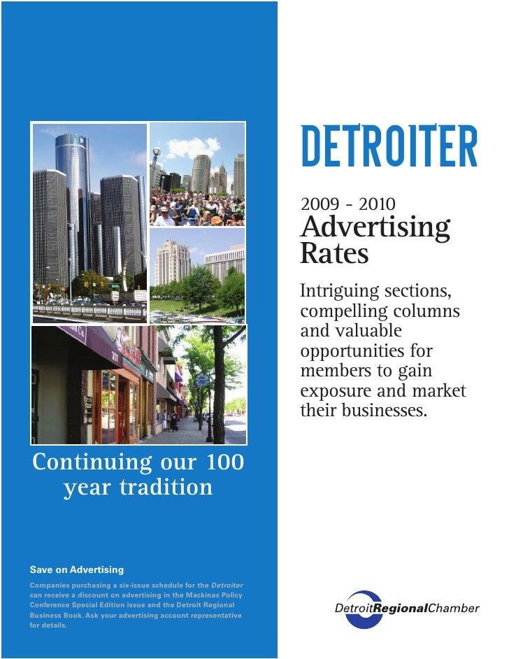 Detroiter Sales Sheets