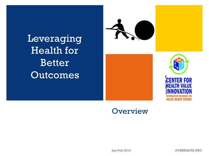 Overview <ul><li>Leveraging Health for Better Outcomes </li></ul>Jan-Feb 2010 ©VBHEALTH.ORG
