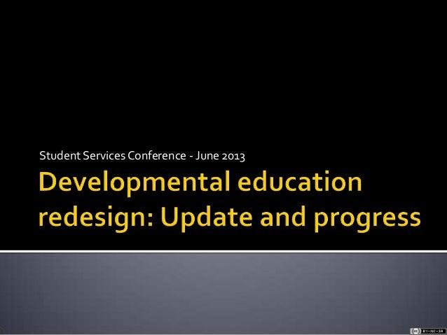 De update student services conference june 13