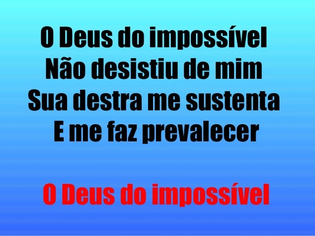 Deus do impossivel download youtube