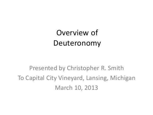 Deuteronomy overview