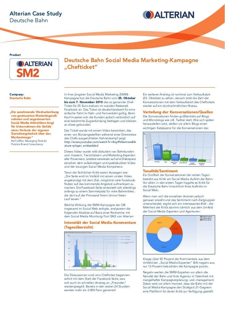 Alterian Case StudyDeutsche BahnProduct                                  Deutsche Bahn Social Media Marketing-Kampagne    ...