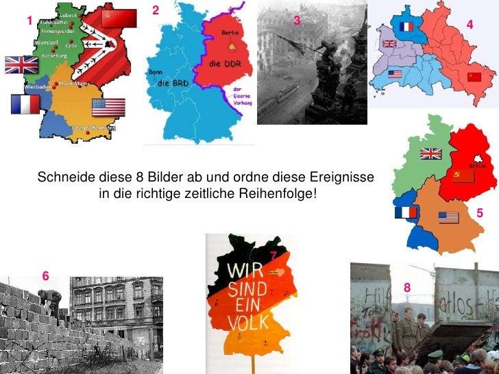 2<br />1<br />3<br />4<br />Schneide diese 8 Bilder ab und ordne diese Ereignisse in die richtige zeitliche Reihenfolge!<b...