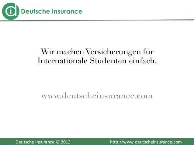 Deutsche Insurance © 2013                            ...