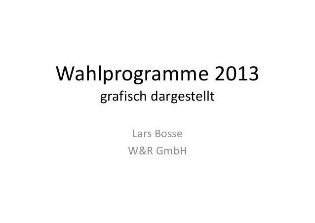 Wahlprogramme2013 grafischdargestellt LarsBosse W&RGmbH