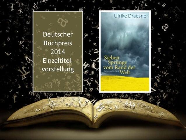 Deutscher  Buchpreis  2014  Einzeltitel-vorstellung